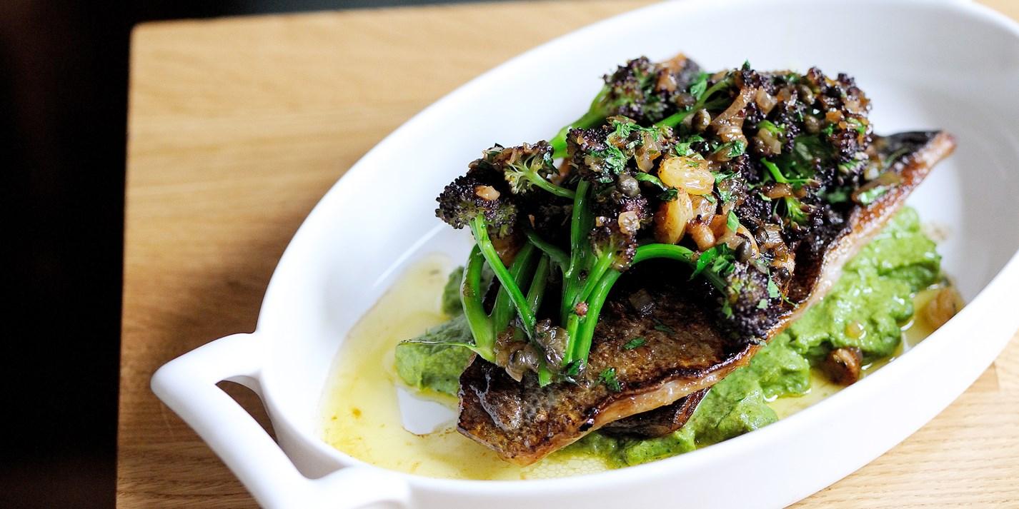 Black Bream Recipe With Almonds Amp Broccoli Pur 233 E Great