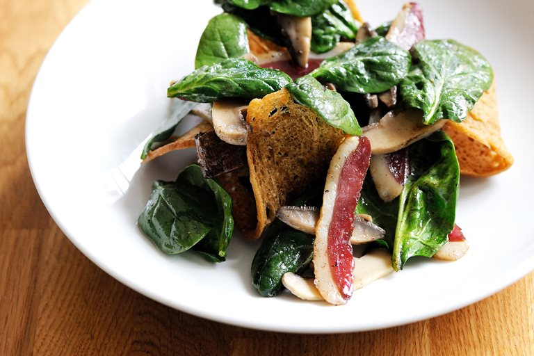 Duck breast salad
