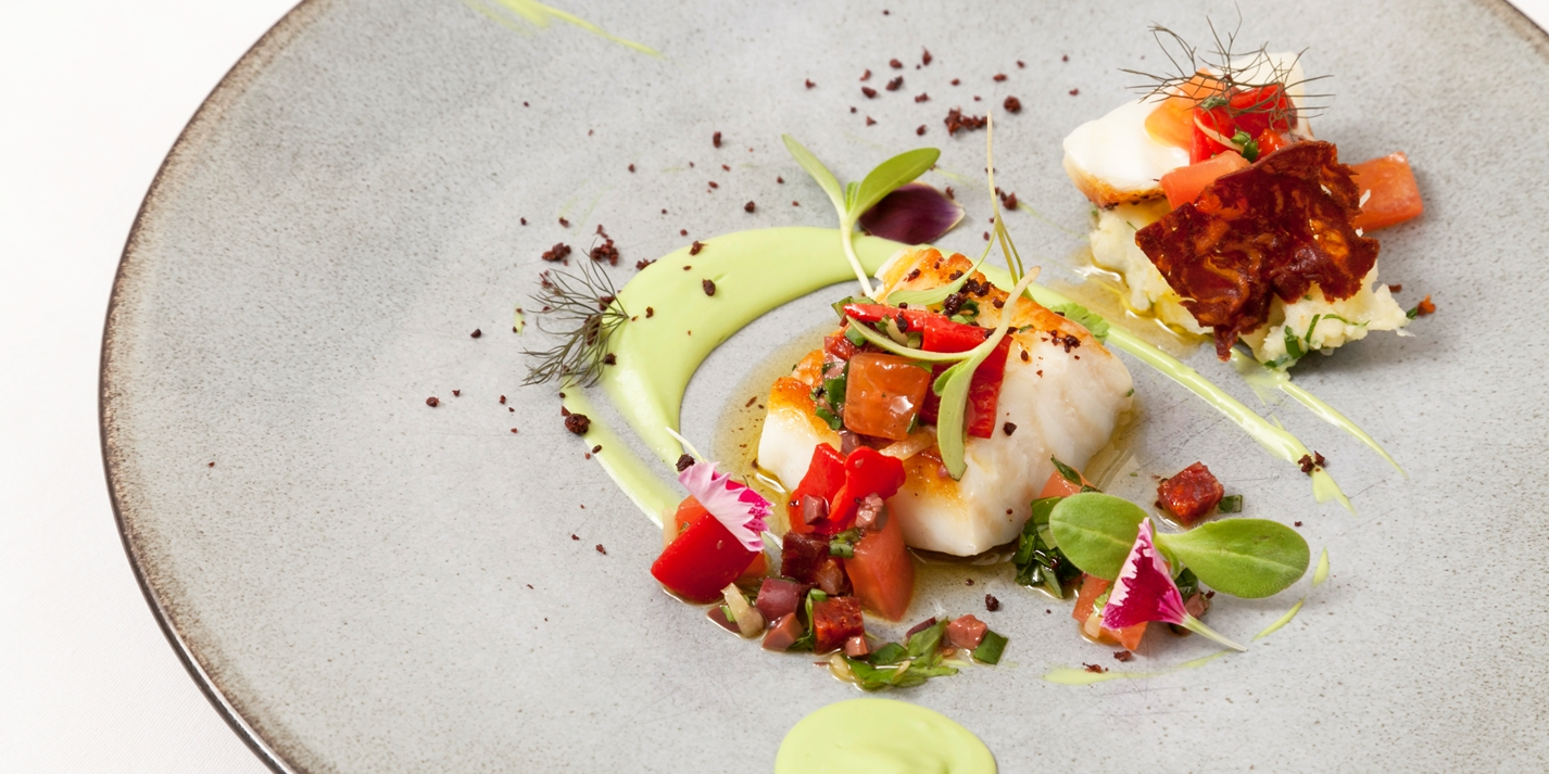 Icelandic cod, avocado and chorizo
