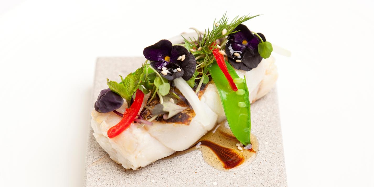 Black Cod Recipe With Thai Dressing Great British Chefs