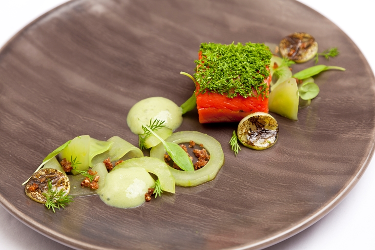 gincured salmon recipe great british chefs