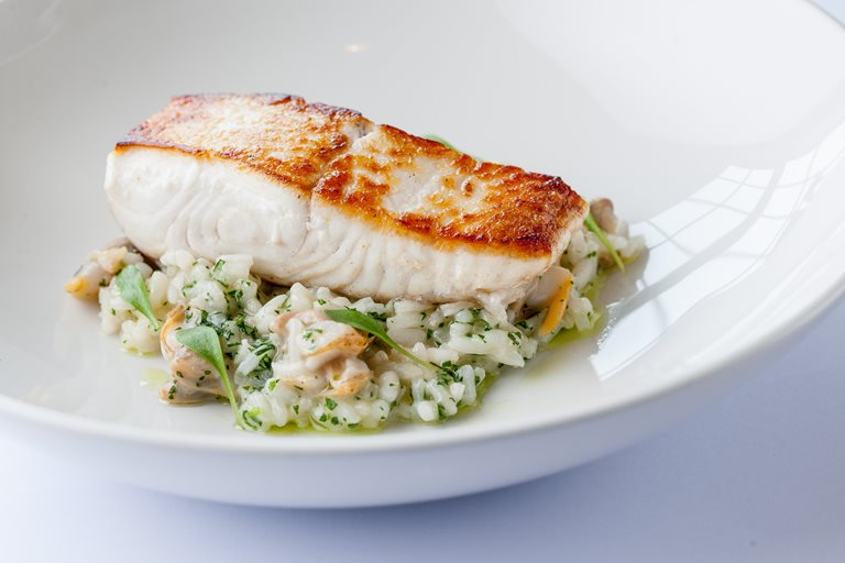 Halibut with Risotto Recipe - Great British Chefs