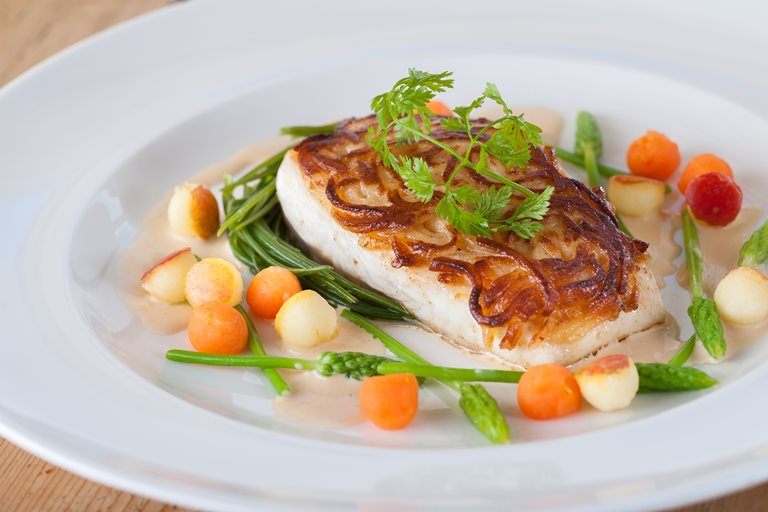 Potato crusted halibut recpe great british chefs for Halibut fish recipes