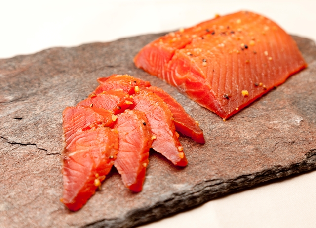 Maple-cured Alaska salmon