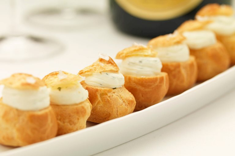 Choux buns recipe great british chefs for Easy canape fillings