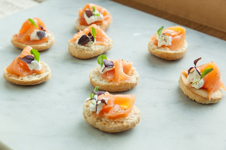 Smoked salmon canap recipe great british chefs for Canape dessert ideas
