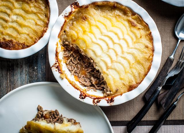 Beef and onion cottage pie