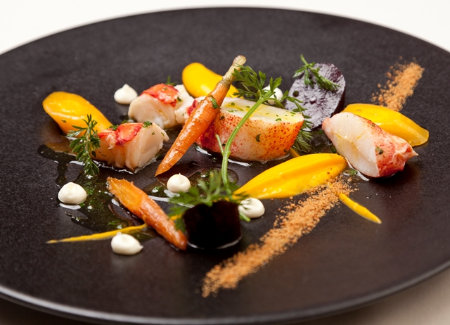 Native lobster, roasted heritage carrots, carrot purée, buttermilk