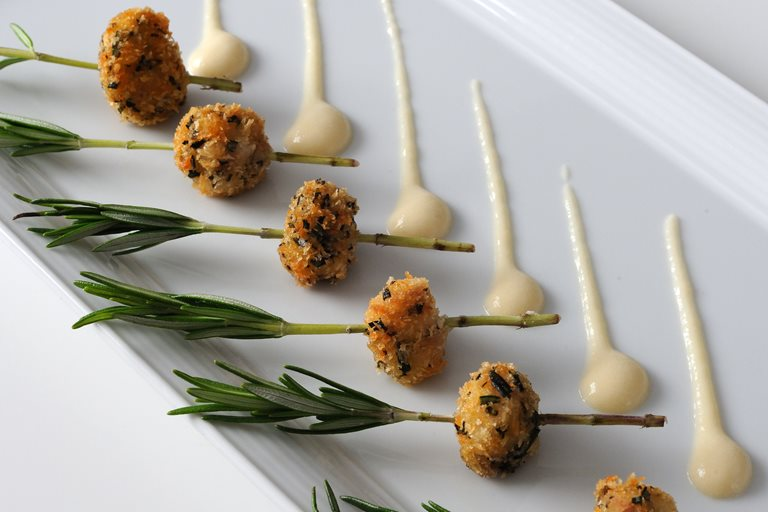 Beignet of veal sweetbreads recipe great british chefs for French canape ideas
