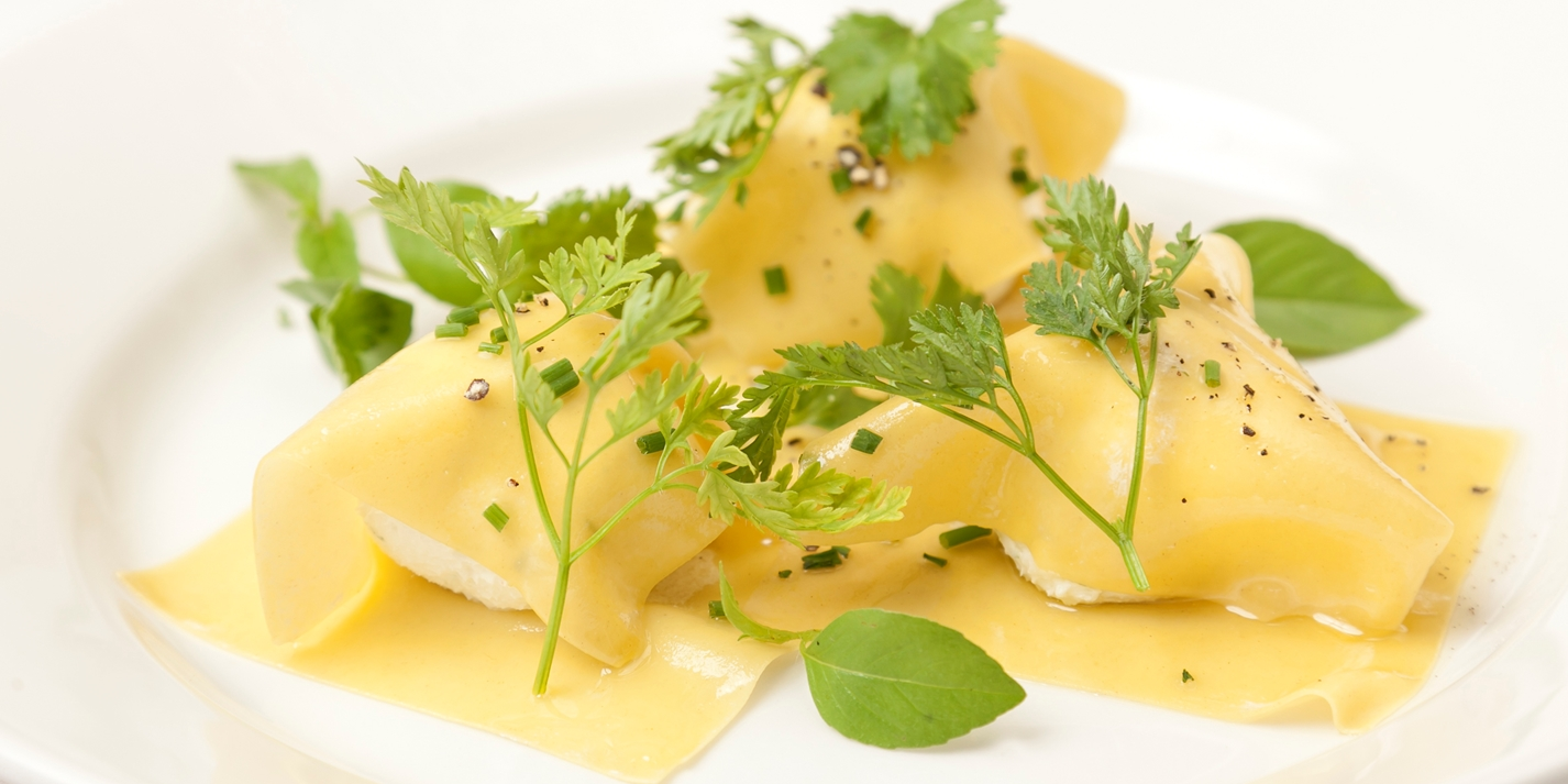 Ravioli of goat's cheese