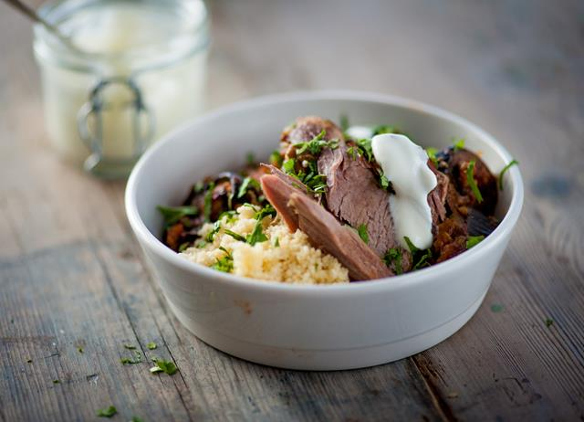 Moroccan lamb with fluffy lemon couscous