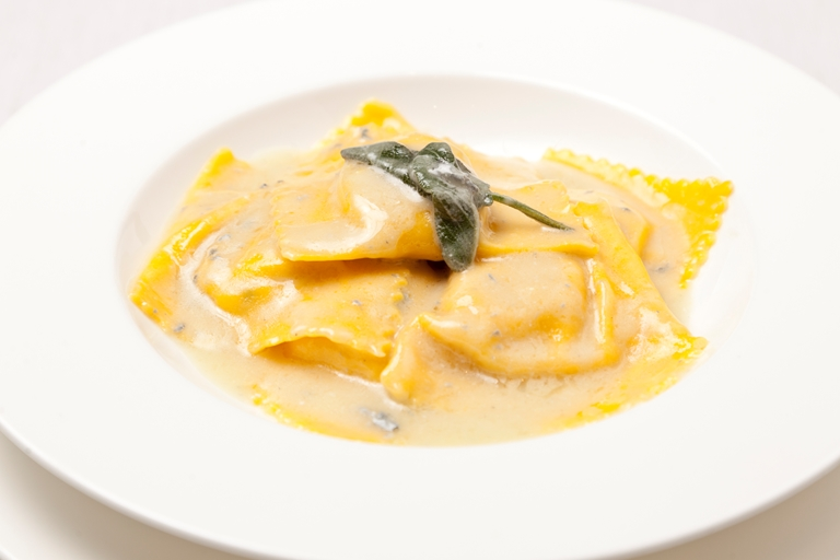 Ravioli with butternut squash, marjoram, sage and butter