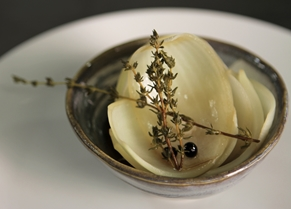 Beer-pickled onions