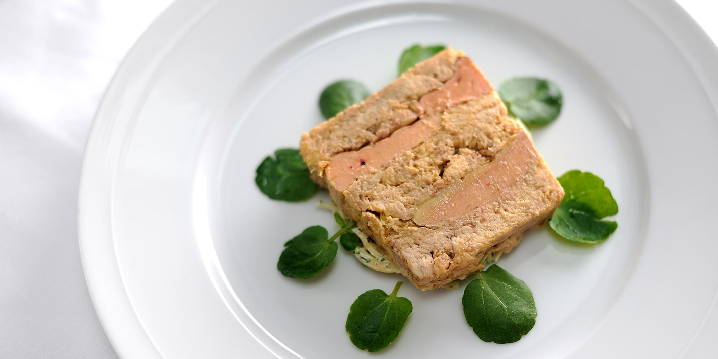 Terrine of confit chicken and foie gras with celeriac remoulade
