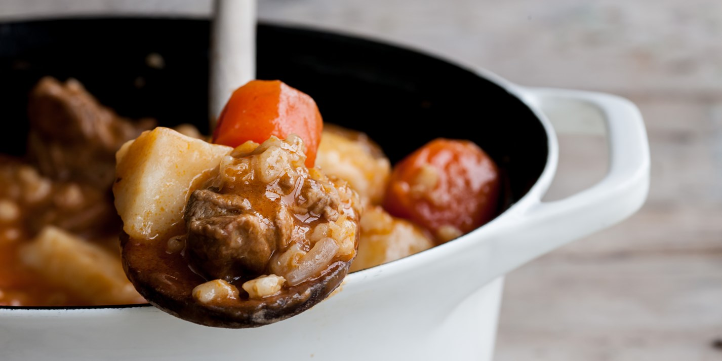 Lamb, potato and pearl barley stew