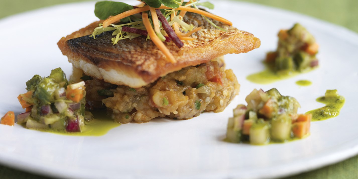 Seared black bream recipe
