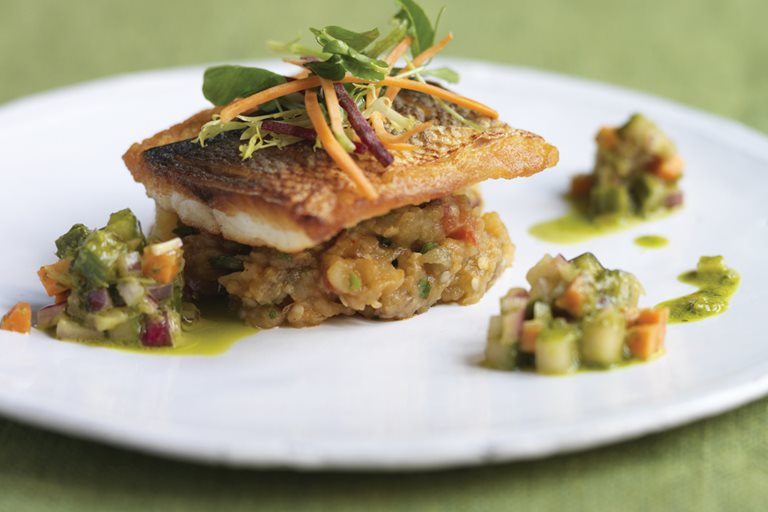 Seared Black Bream Recipe With Kachumber Great British Chefs