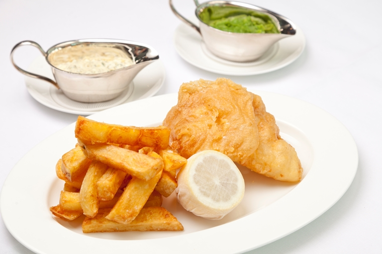Beer battered fish and chips recipe great british chefs for Beer battered fish and chips