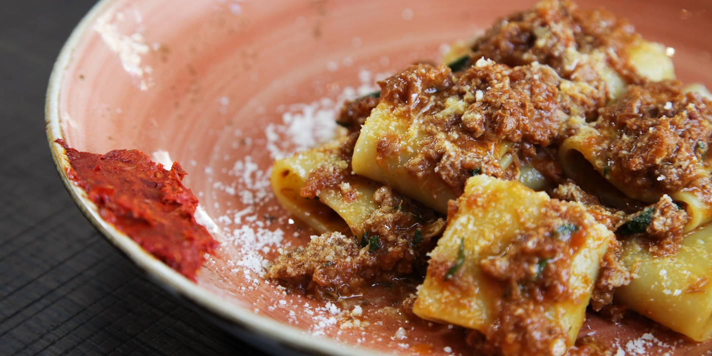 Paccheri with Welsh Lamb ragù