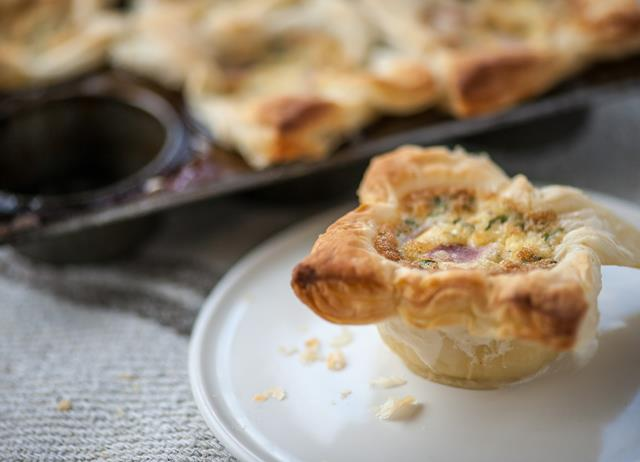 Bacon and egg pies