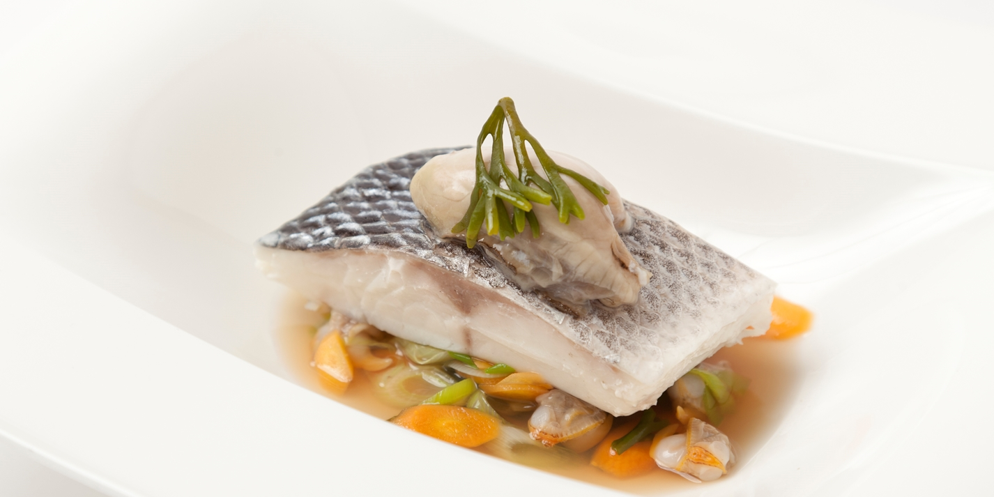 How to steam sea bass fillets