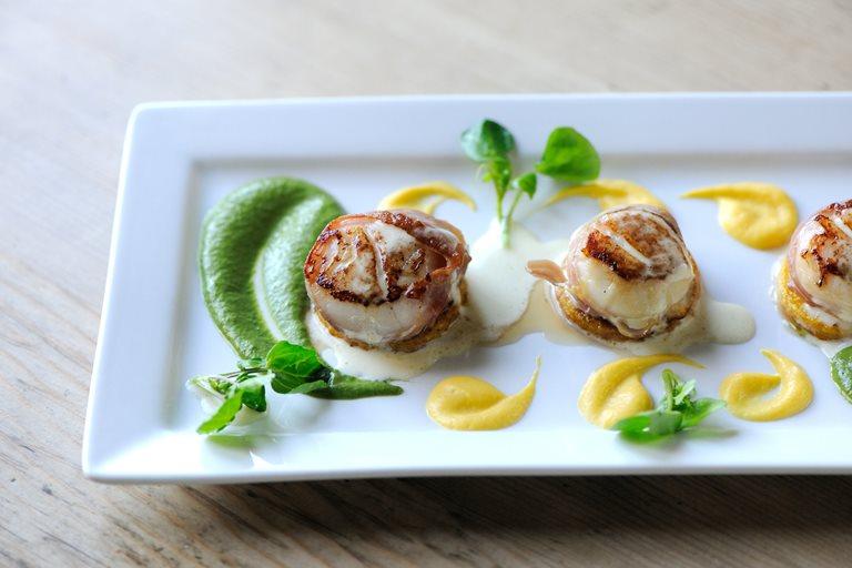 Scallops Prosciutto Watercress Amp Squash Great British Chefs
