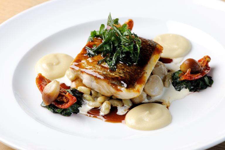 Sea Bass With Jerusalem Artichoke Recipe Great British Chefs