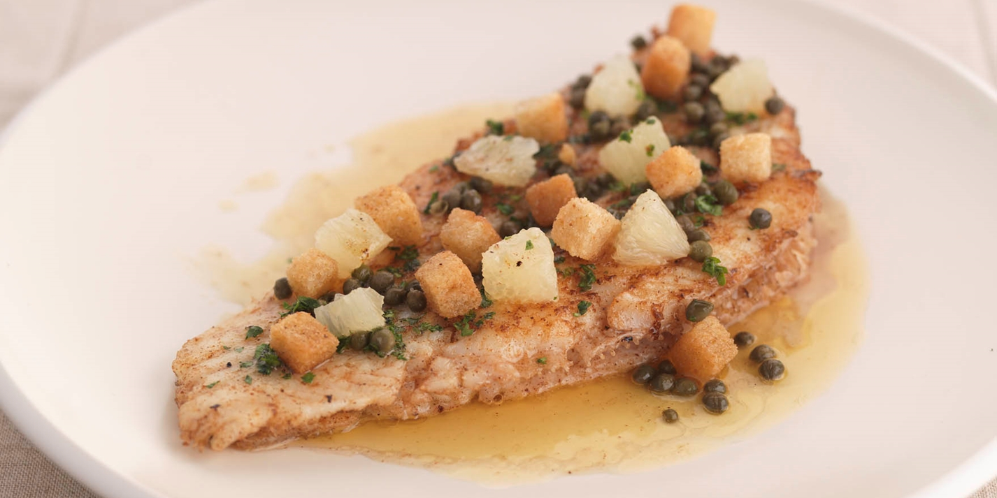Lemon sole grenobloise