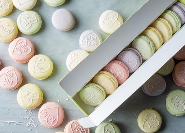 Love Heart macarons