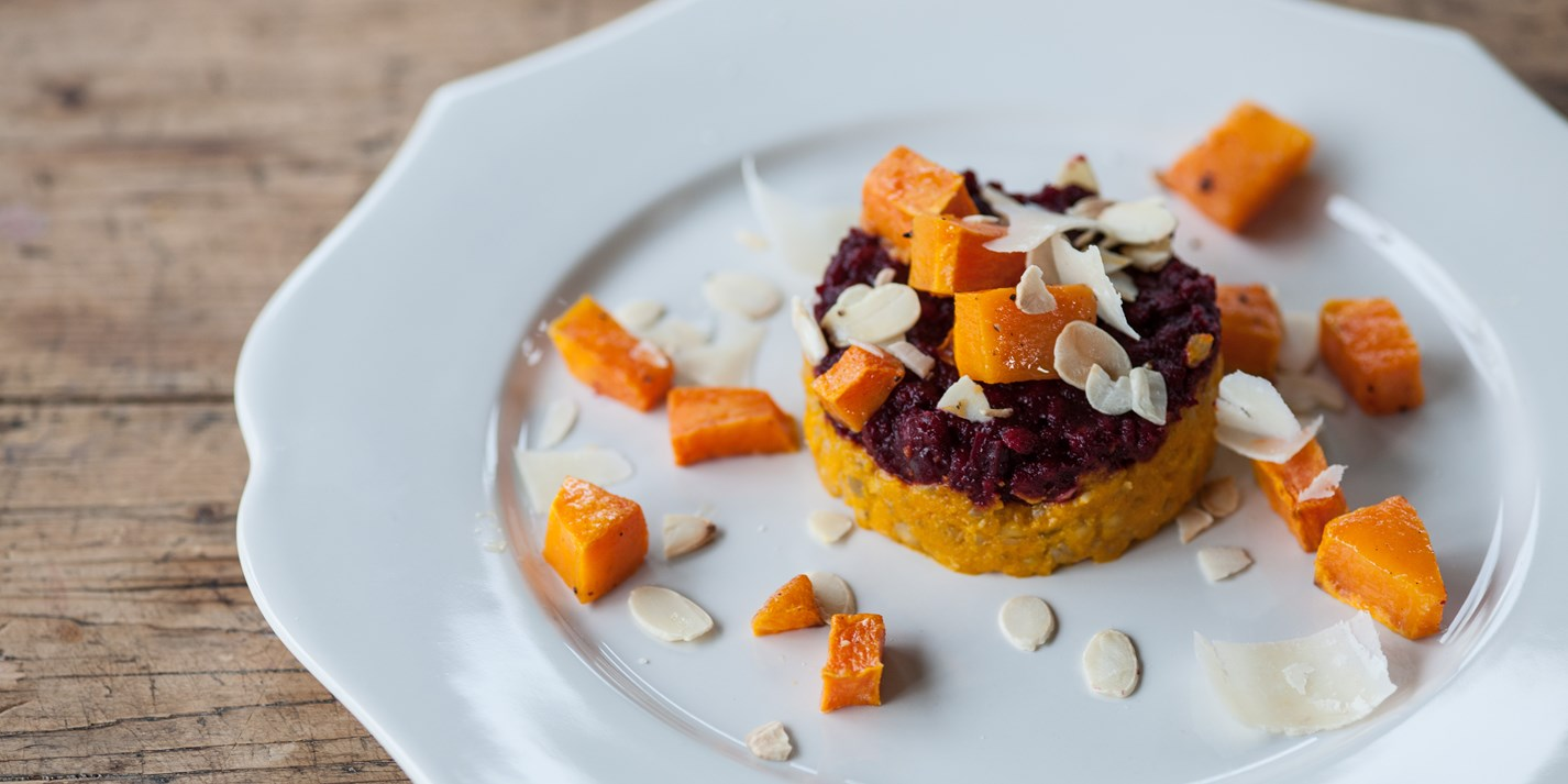 Orange and pink risotto