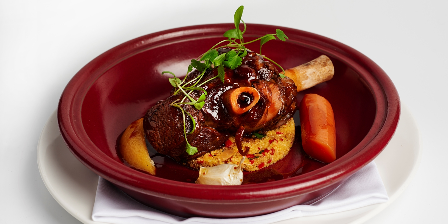 Tagine of lamb, couscous, preserved lemon and harissa