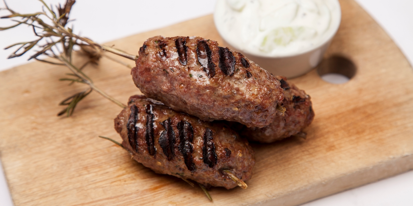 Welsh Lamb koftas with cucumber sauce