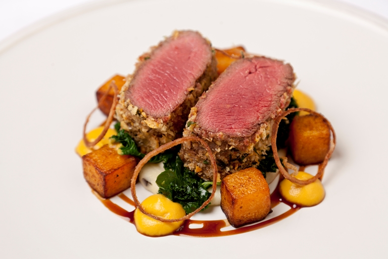 Venison With Parmesan Crust Recipe Great British Chefs
