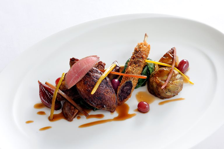 Roast Pigeon Crispy Leg Amp Foie Gras Hollandaise Great