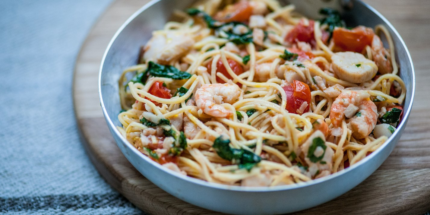 Italian Shrimp Pasta just like the ones served in Italy ...  |Authentic Italian Seafood Pasta Recipes