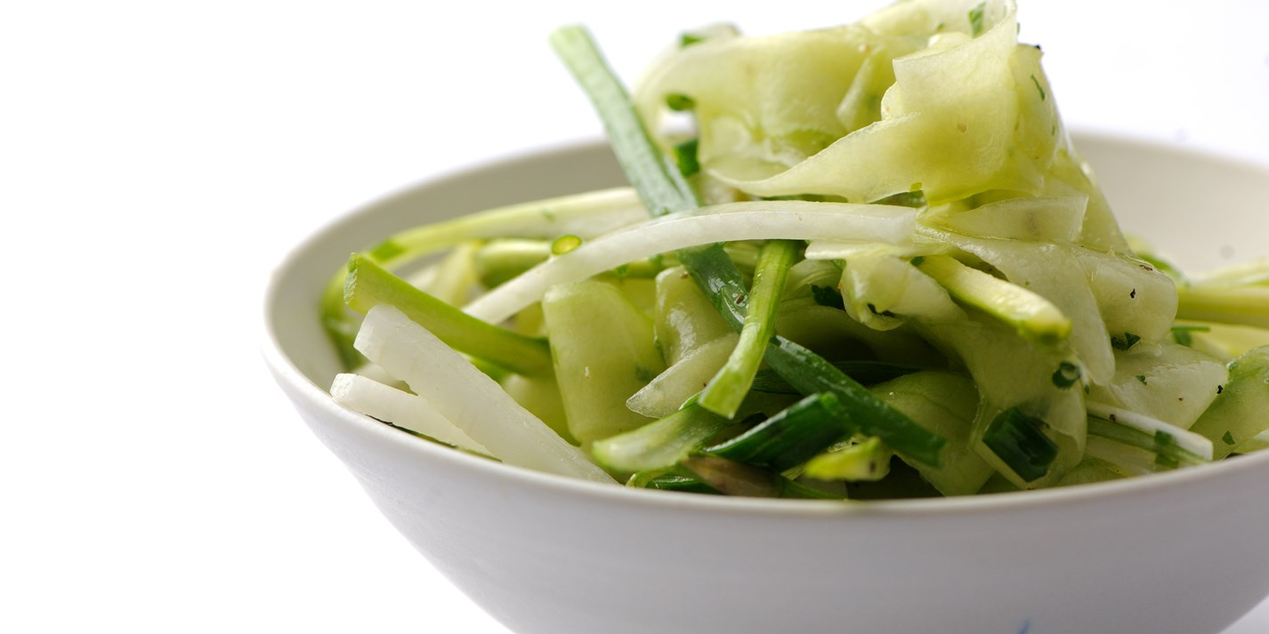 Asparagus and cucumber salad