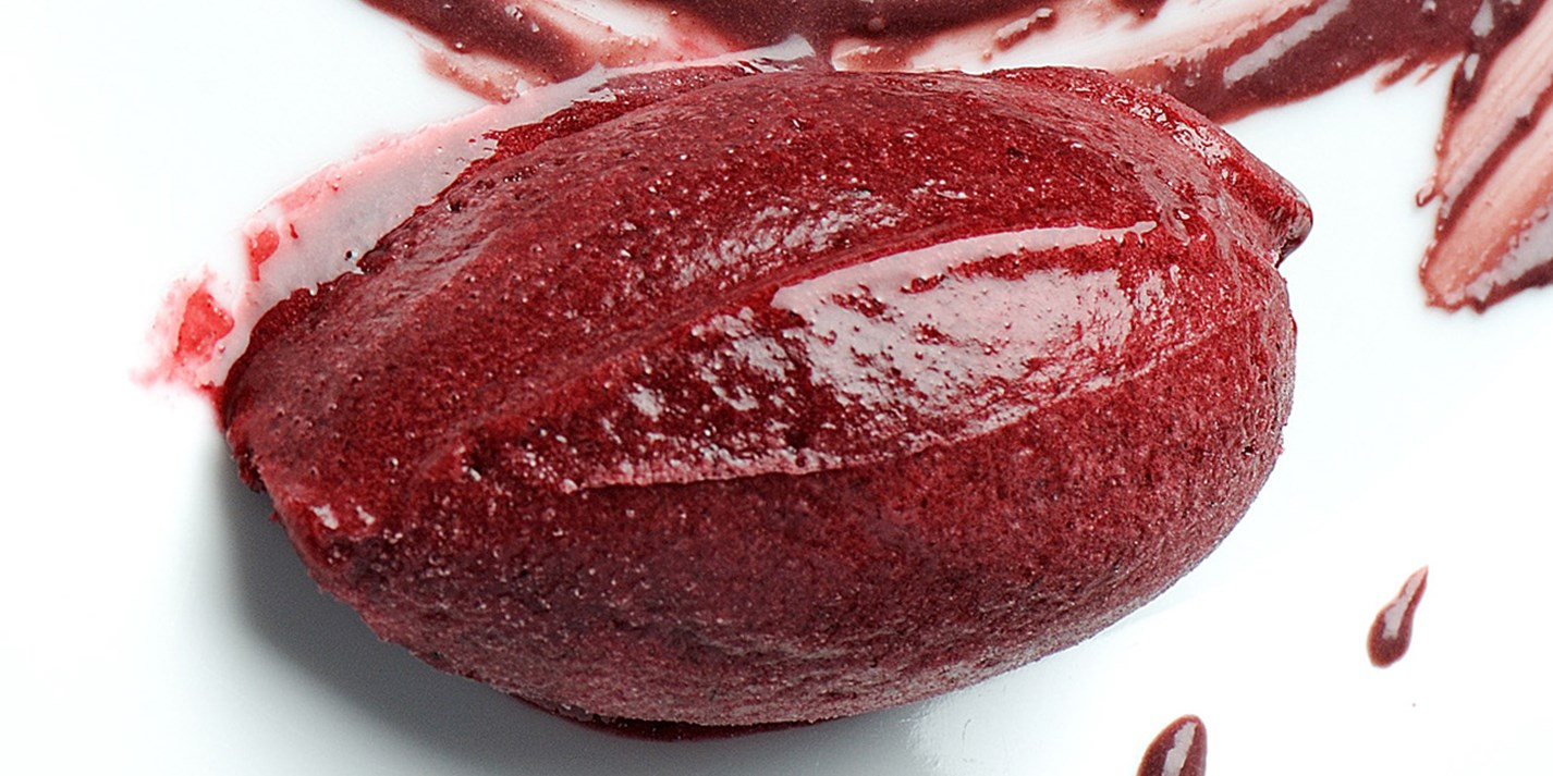 Lavender and blackberry sorbet