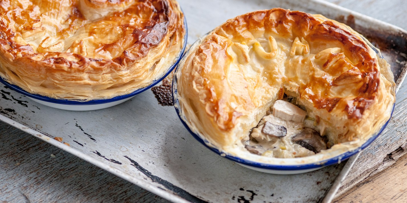 Chicken Leek And Mushroom Pie Recipe Great British Chefs