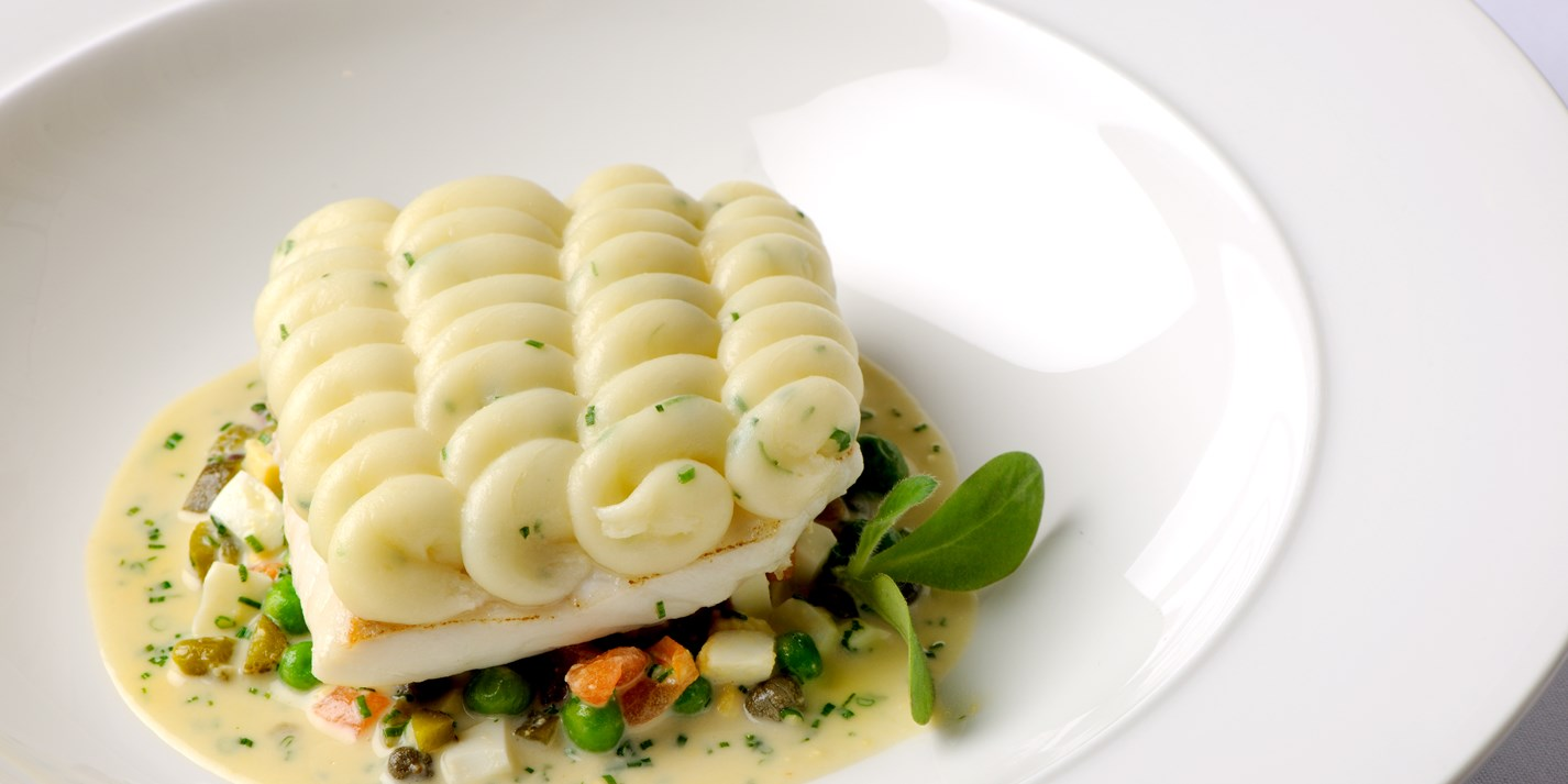 Fish pie recipe with warm tartare sauce great british chefs for Recipes with fish sauce