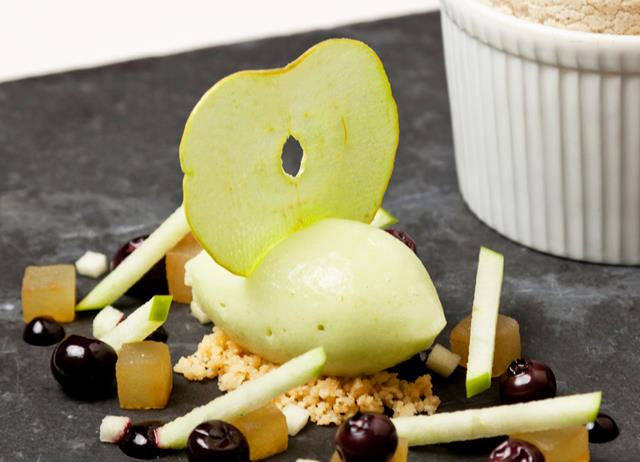 Granny Smith apple sorbet