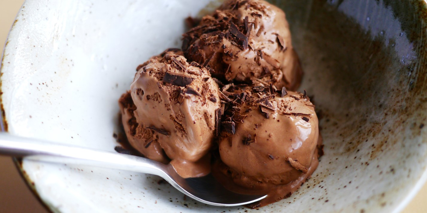 Spiced Belgian chocolate ice cream