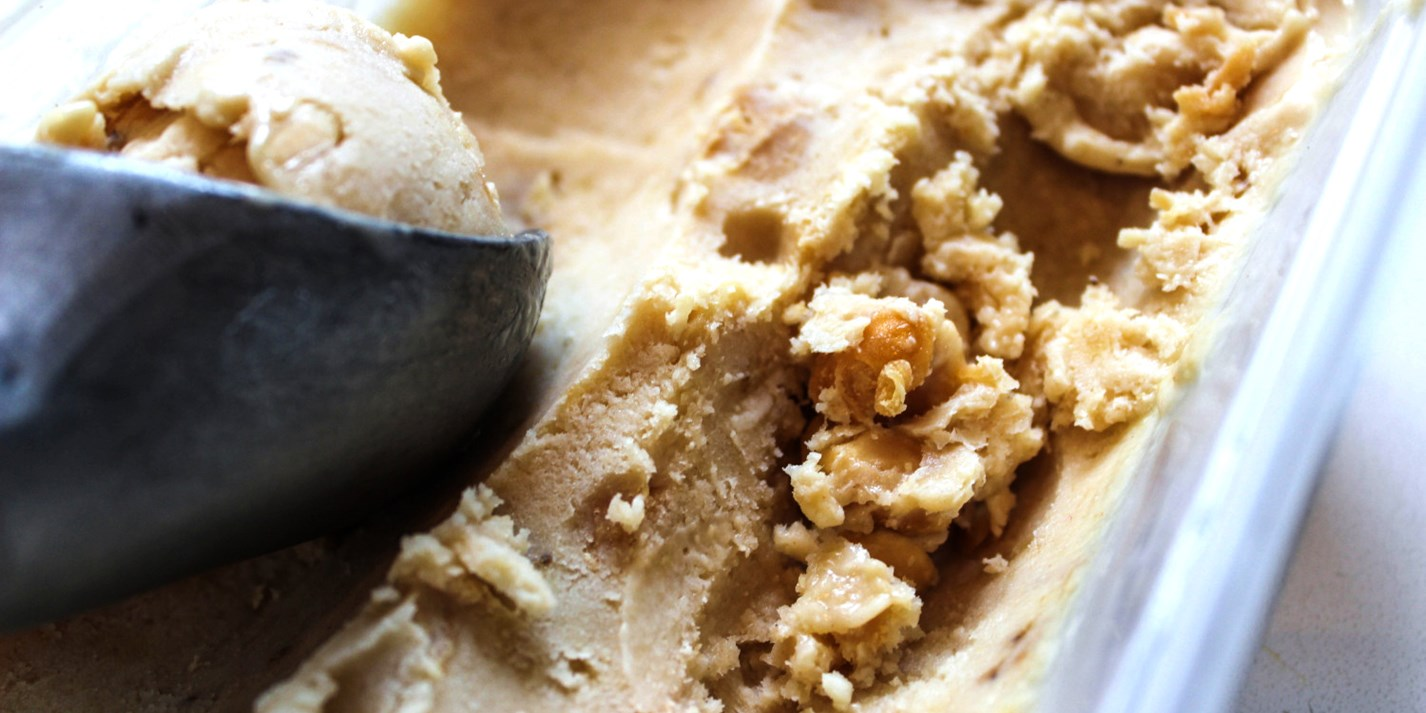 Peanut butter and banana ice cream