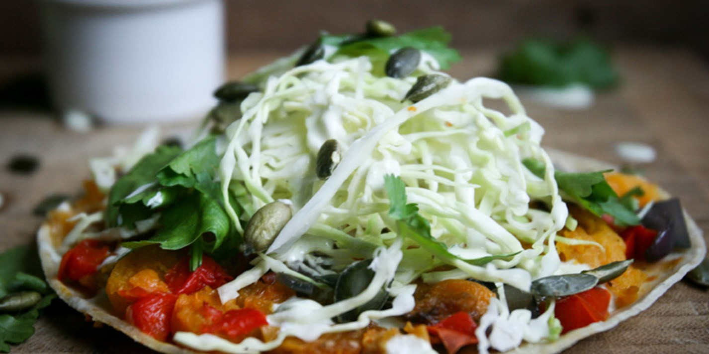 Butternut squash tostadas with coleslaw recipe - Great ...