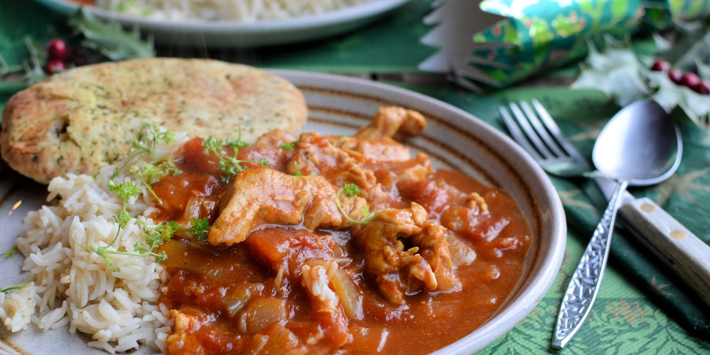 Low-calorie turkey curry