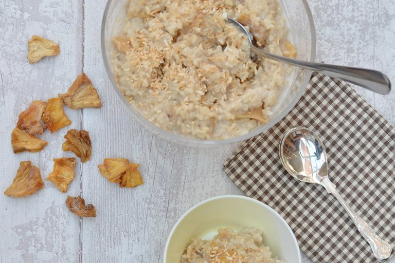 Dairy-free tropical rice pudding