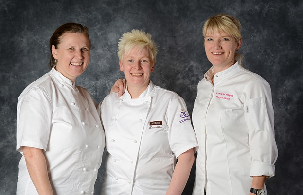 Angela Hartnett, Lisa Allen and Margot Janse