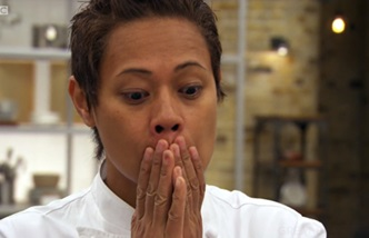 Monica Galetti shocked face