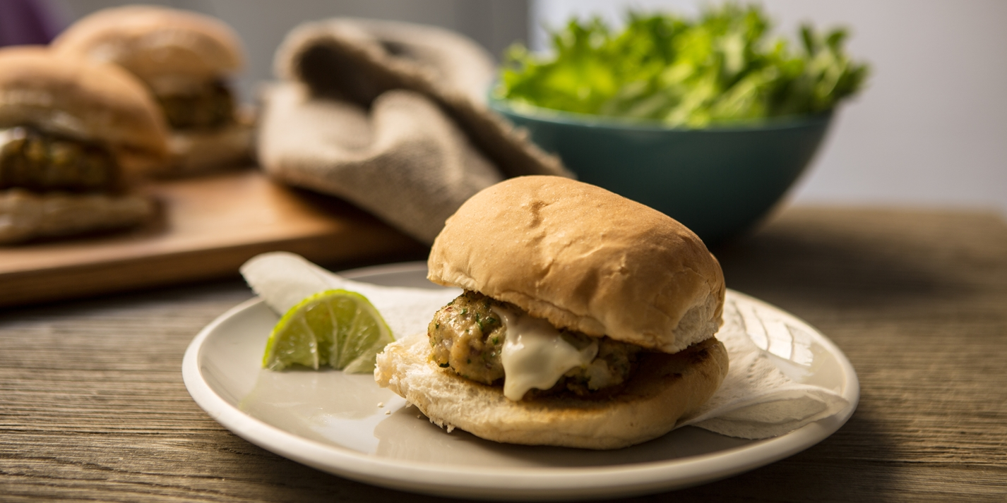 Cod and mackerel burgers