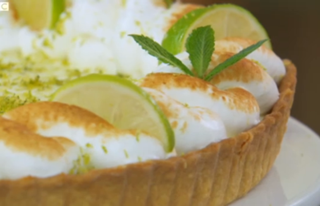 Key lime and ginger pie