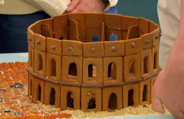 John's Roman gingerbread house